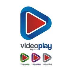 Video Play Logo Icon, 3D Design Illustration