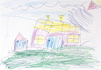 Children's drawing of a house