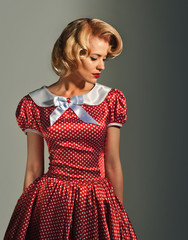 young retro pinup woman