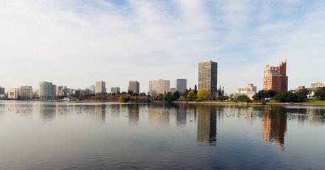 Oakland California Afternoon Downtown City Skyline Lake Merritt