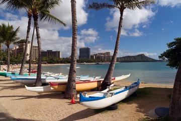 Seashore Pacific Ocean Waikiki Beach Oahu Hawaii Diamond Head