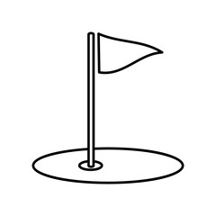Golf field line icon