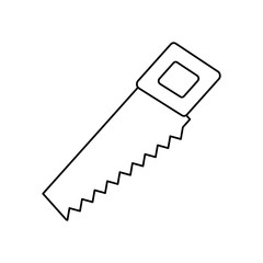 Hand saw line icon