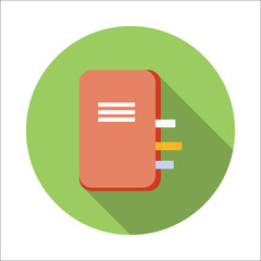 Notebook flat icon