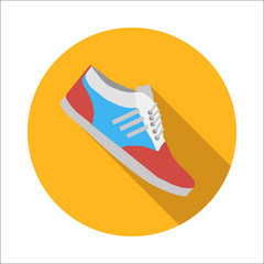 Sport shoes flat icon