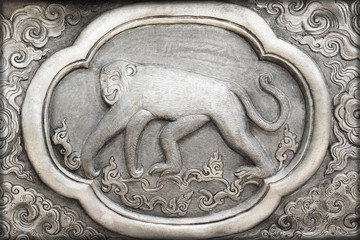 Engraving of the silver value, Zodiac symbol of thai traditional