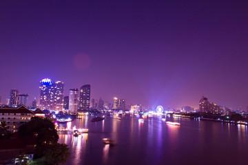 celebration  fireworks countdown  bangkok countdown on the river