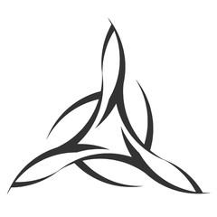triangular creative tattoo