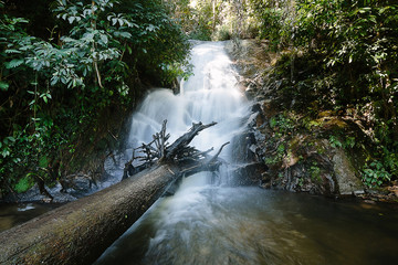Siribhume waterfall in Doi Inthanon National park in Chiang Mai Thailand.