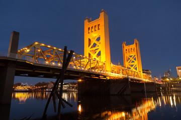 Tower Bridge Sacramento River Capital City California Downtown Skyline