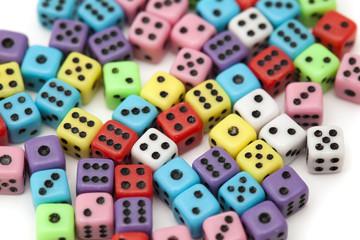 many small dice