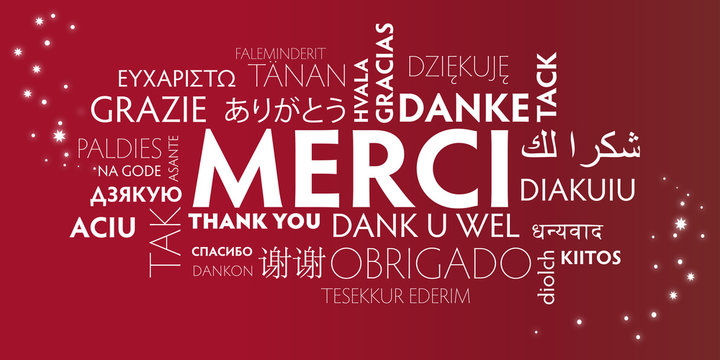 merci multilingue - rouge