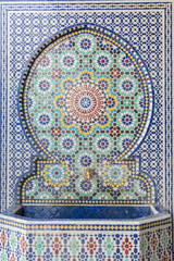 Moroccan style water tap made with mosaic