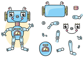 Robot body parts for kids to put together