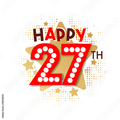 """Happy 27th Birthday"" Stock Image And Royalty-free Vector"