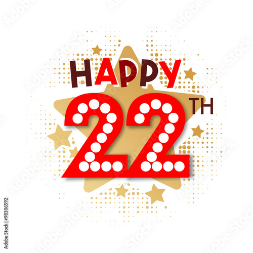 """""""Happy 22th Birthday"""" Stock Image And Royalty-free Vector"""