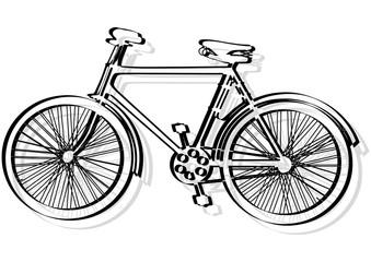 Graphisme d'un vélo.