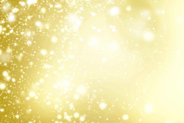 Abstract Background with Shimmering lights. Gold and white color