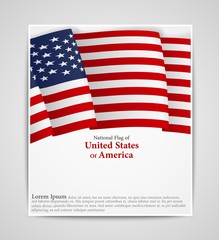 National flag brochure of United States of America