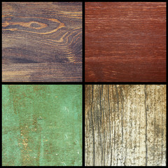 Collection of different wooden backgrounds