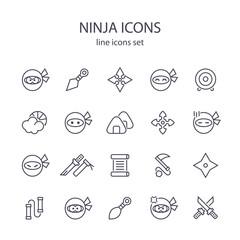 Ninja icons.