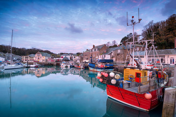 Wall Mural - Sunrise Over Padstow Harbour