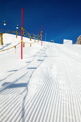 Ski slope marking