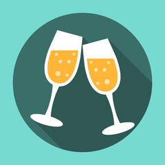 Glasses of Champagne Icon