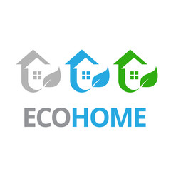 Eco house and real estate logo