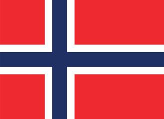 Vector of Norwegian flag.
