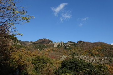 autumn mountain of Kankakei