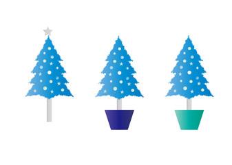 水色のクリスマスツリー バリエーション