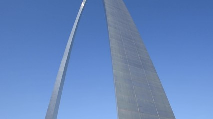 Fototapete - Downtown Saint Louis with Gateway Arch