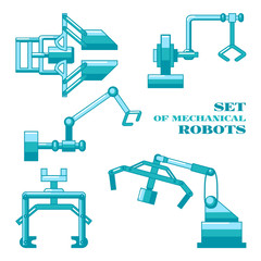 Set of mechanical robots