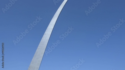 Fototapete Downtown Saint Louis with Gateway Arch