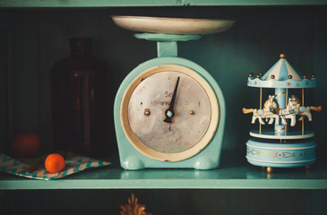 antique kitchen-scales