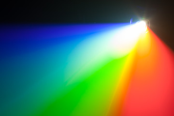 rgb spectrum light of projector