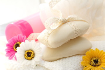 Flower soap and SPA accessories