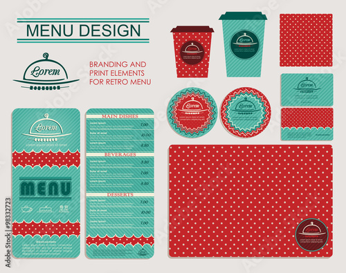 Branding and print elements for cafe template for branding identity branding and print elements for cafe template for branding identity restaurant or cafe set reheart Image collections