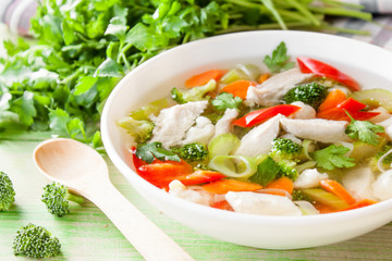 chicken soup with vegetable