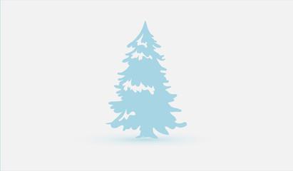 Christmas tree in blue. Beautiful minimalism.