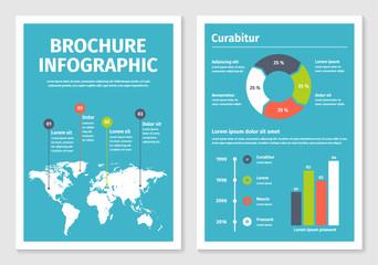 Modern Dark Business Infographic Brochure Template Buy This - Infographic brochure template
