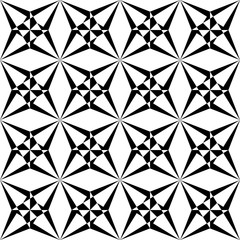 Vector modern seamless  sacred geometry pattern polygon , black and white abstract geometric background, pillow print, monochrome retro texture, hipster fashion design