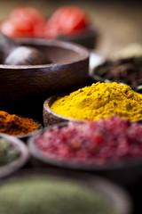 Fototapete - Colorful spices, orintal cuisine vivid theme