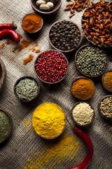 Fototapete - Exotic Spices, orintal cuisine vivid theme