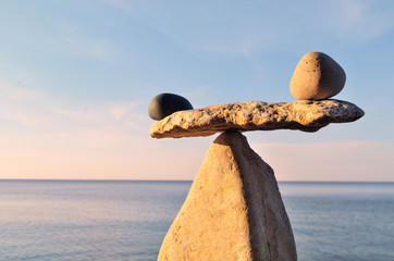 Pebbles in balance
