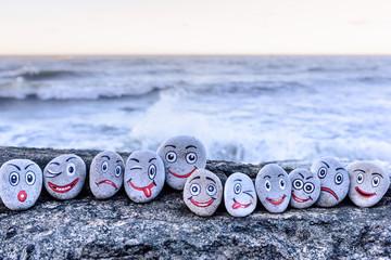 Smileys on small stones