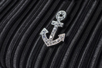 anchored on a black background