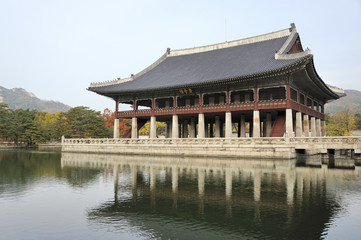 Gyeonghoeru, an open two story pavilion