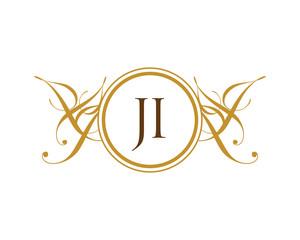 JI Luxury Ornament Initial Logo
